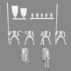 knight_cavarly_pic.png Download free STL file Knight Cavalry Miniatures Customizable • Template to 3D print, Ilhadiel