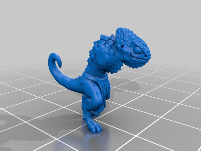body_v2.png Télécharger fichier STL gratuit Miniatures de guerriers caméléons • Design à imprimer en 3D, Ilhadiel