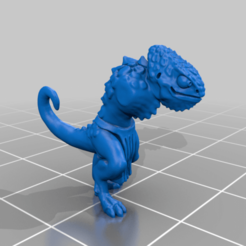 Download free 3D printing designs Chameleon Warrior Miniatures, Ilhadiel