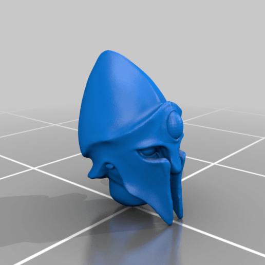 head_v6.png Télécharger fichier STL gratuit Infatrie des elfes / Miniatures des lanciers • Plan imprimable en 3D, Ilhadiel