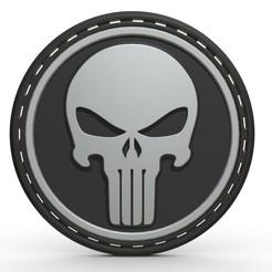 1.jpg Télécharger fichier OBJ Modèle 3D du logo du Punisher • Design pour impression 3D, stiv_3d