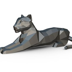 1.jpg Download STL file leopard figure • 3D printing object, stiv_3d
