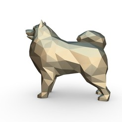 2.jpg Download 3DS file Samoyed figure  • 3D printable design, stiv_3d