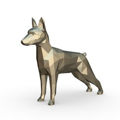 1.jpg Download 3DS file Pinscher figure  • Template to 3D print, stiv_3d