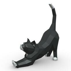 1.jpg Download 3DS file cat figure • 3D printer design, stiv_3d