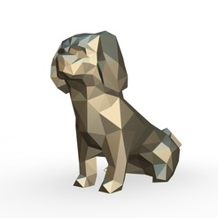 118.jpg Download 3DS file Pekingese figure • 3D printing object, stiv_3d