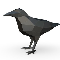 Download 3D printer designs crow figure 2, stiv_3d