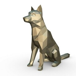 1.jpg Download 3DS file chien loup • Object to 3D print, stiv_3d