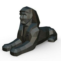 1.jpg Download 3DS file egyptian sphinx • 3D printable model, stiv_3d