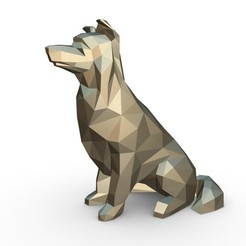 1.jpg Download 3DS file border collie dog • 3D printable design, stiv_3d