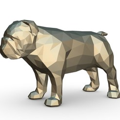 Download 3D printer designs English bulldog figure, stiv_3d