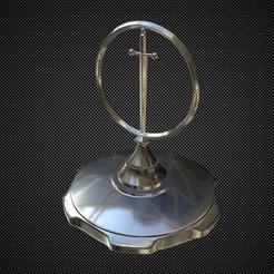 Télécharger fichier impression 3D Excalibur ornement de capot, stiv_3d
