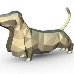 Download 3D model basset hound figure, stiv_3d