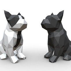 Download 3DS file French Bulldog Figure  • 3D printing object, stiv_3d