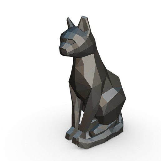 Download 3D print files Cat sitting figure, stiv_3d