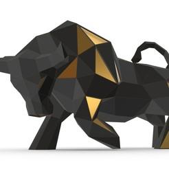 1.jpg Download 3DS file bull figure  • 3D printing object, stiv_3d