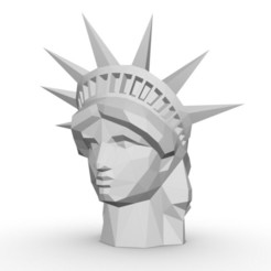 1.jpg Download 3DS file statue of liberty head • 3D printer object, stiv_3d