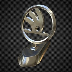 Télécharger modèle 3D ornement de capot de skoda, stiv_3d