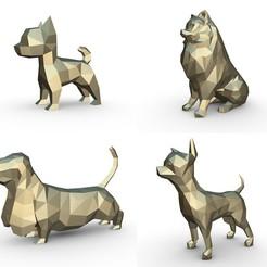 Download 3D printer model Dog set, stiv_3d