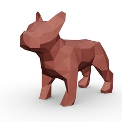 1.jpg Download 3DS file french bulldog figure • 3D printer model, stiv_3d