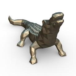 2.jpg Download 3DS file Alligator figure • 3D printer model, stiv_3d