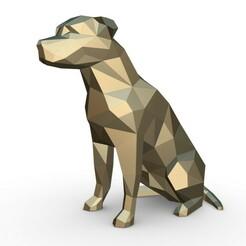 1.jpg Télécharger fichier OBJ amstaff dog figure • Objet imprimable en 3D, stiv_3d