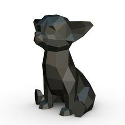 1.jpg Download 3DS file Chihuahua figure • 3D printer design, stiv_3d