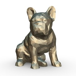 1.jpg Download 3DS file French Bulldog Figure 2 • 3D printing design, stiv_3d