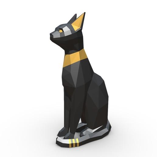 Download STL file Egypt Cat Figure, stiv_3d