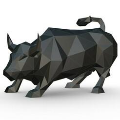 1.jpg Download 3DS file bull figure • 3D print design, stiv_3d