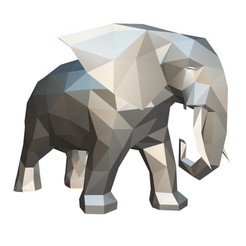 1.jpg Download 3DS file Elephant figure 2 • 3D printable template, stiv_3d