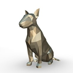 28.jpg Download 3DS file bull terrier figure • 3D printing model, stiv_3d
