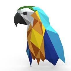 1.jpg Download 3DS file Parrot figure 4 • 3D print template, stiv_3d
