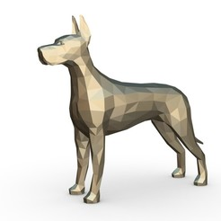 Télécharger fichier impression 3D dogue allemand figure 3, stiv_3d