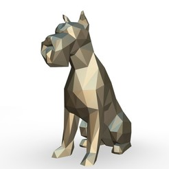 109.jpg Download 3DS file Schnauzer dog figure • 3D printing design, stiv_3d