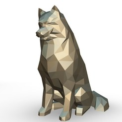 100.jpg Download 3DS file Samoyed figure • 3D printer object, stiv_3d