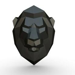 1.jpg Télécharger fichier 3DS tête de lion • Design pour imprimante 3D, stiv_3d