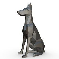 1.jpg Download 3DS file Doberman figure 2 • Model to 3D print, stiv_3d