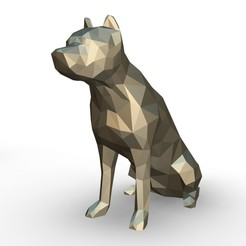 82.jpg Download 3DS file pit bull figure • 3D print template, stiv_3d