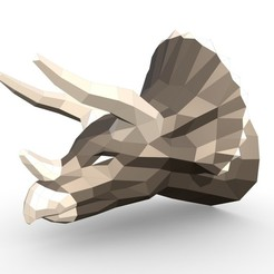 1.jpg Download 3DS file Triceratops head • 3D printing model, stiv_3d