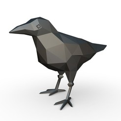 1.jpg Download 3DS file crow figure • 3D printing object, stiv_3d