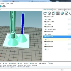 Download free 3D print files Expanding helping objects on printing surface, prospect3dlab