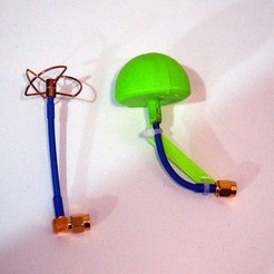 DSC_0290.JPG Download free STL file FPV Cloverleaf antenna cover and angler • 3D printing design, prospect3dlab