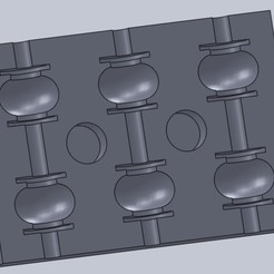 Untitled.jpg Télécharger fichier STL gratuit Moule en silicone pour amortisseurs de vibrations de bourdon • Objet imprimable en 3D, prospect3dlab