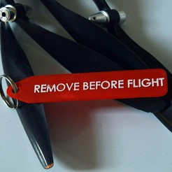 DSC_0305.JPG Download free STL file Remove before flight tag • Object to 3D print, prospect3dlab