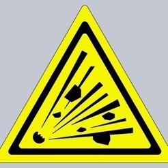 Untitled.jpg Download free STL file Explosion hazard warning sign • 3D printing model, prospect3dlab