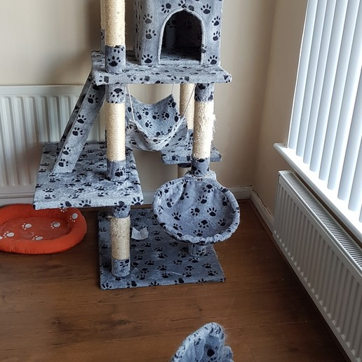 Download free STL file Cat Condo / activity scratching Pole repair kit. (For owners of fat cats) • 3D printing design, gnattycole