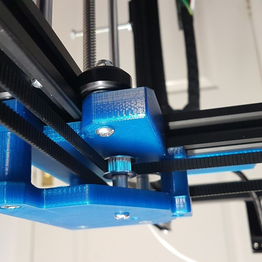 gantry_block_with_pulley_support.jpg Download free STL file Tronxy X5S Gantry carriages and belt geometry alignment • 3D printing design, gnattycole