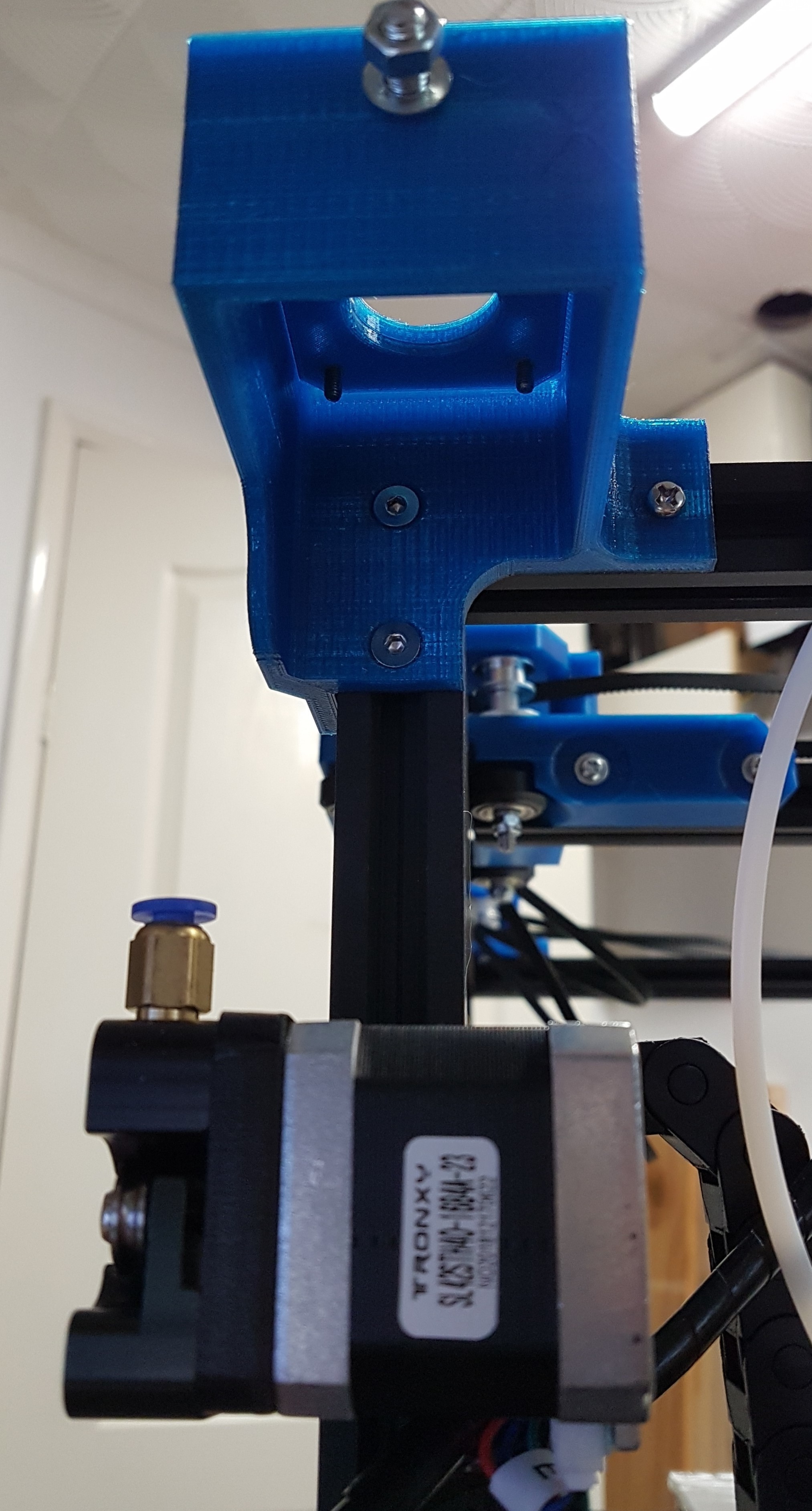 motor_mounts_X_motor.jpg Download free STL file Tronxy X5S Belt geometry aligned screw adjust motor mounts • Design to 3D print, gnattycole