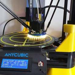20200605_120440.jpg Download free STL file Kossel Linear Plus Part Cooling duct and 85mm LED ring • Design to 3D print, gnattycole